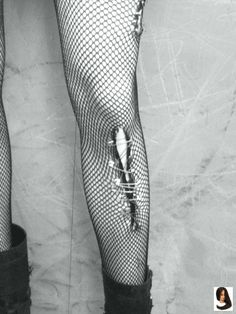 Bloody Scratches Pantyhose Black or White