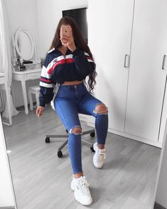 jugendkleidungsstil jugendkleider uk teenager mode tragen teenager 2019032 - The world's most private search engine Best Casual Outfits, Teen Fashion Outfits, Swag Outfits, Mode Outfits, Fashion Wear, Girl Outfits, Fashionable Outfits, Ladies Fashion, Spring Outfits