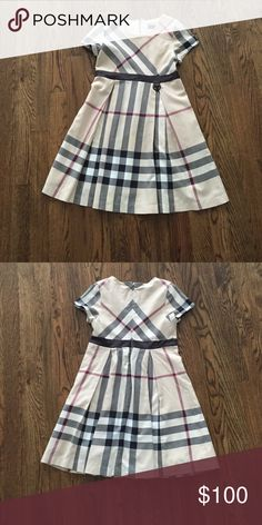 Burberry Dress Authentic Burberry Dress,  Classic Check Print, Fully Lined. Beautiful Dress, Worn Once to Preschool Graduation Burberry Dresses Formal