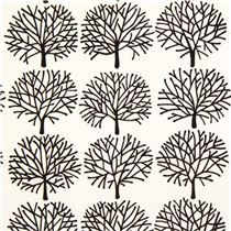 white bald tree fabric by Alexander Henry