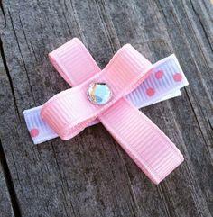 Cross Ribbon Sculpture Hair Clip..