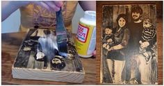 How To Transfer A Photo To Wood (Video) | www.FabArtDIY.com