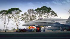 Infiniti Red Bull Racing F1 Car vs. F/A-18 Hornet