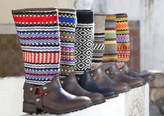 Buenos Aires boots - portuguese design boots with traditional hand-made blankets from Alentejo