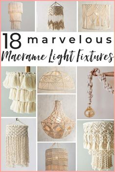 14 gorgeous macrame pendant lights! A shopping guide for the latest lighting craze. Macrame is popular for a good reason! These are ammmazzzing boho pendants! #macrame #boholighting #boholightingideas #macramelights #macramependantlight #macramependantlights #bohochic #bohochiclighting #macrameshoppingguide #macramelightshade #macramelightpendant #macramedecor