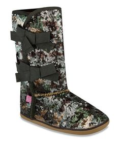 Take a look at this Green Camo Moragami Boot by Sugar Shoes on #zulily today!