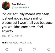 post is so smart i swear there's a reason half the Quotes Deep Feelings, Hurt Quotes, Real Talk Quotes, Mood Quotes, Tweet Quotes, Twitter Quotes, Post Malone Quotes, Relatable Tweets, Heartbroken Quotes