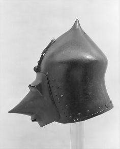 Helmet (Basinet, Visored) Date: ca. 1370 Culture: German Classification: Helmets Credit Line: Rogers Fund, 1904 Accession Number: 04.3.238