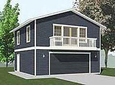 2 story Single Garage Plan | House | Pinterest | Garage plans ...