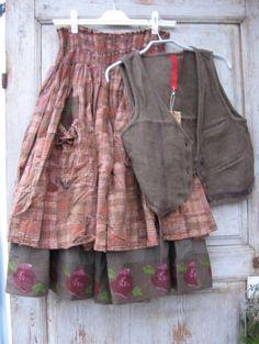 skirt and waistcoat
