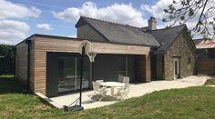 1- Extension maison rdc ossature bois bardage bois architecte rennes architecte 35 servon sur vilaine 2.2vues
