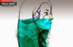 Ilustración, acuarela y encanto de PAULA BONET Leer más: http://www.colectivobicicleta.com/2015/05/ilustracion-de-Paula-Bonet.html