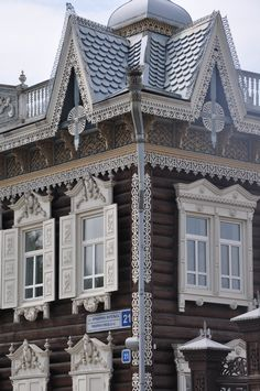 A taste of the intricate wooden architecture that Irkutsk is renowned for. The city is commonly named 'The Paris of Siberia'. Russia