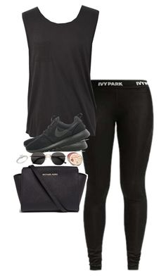 """Anyone want to RP?"" by un-iversal ❤ liked on Polyvore featuring Ivy Park, NIKE, H&M, Ice and Michael Kors"