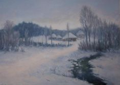 Winter Landscape, Oil Paintings, Canvas Size, Light Colors, The Originals, Artwork, Outdoor, Outdoors, Work Of Art