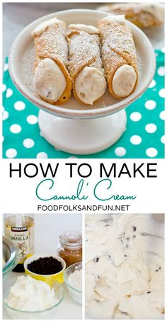 How to Make Cannoli Cream - Cannoli is the perfect dessert for Spring and Easter! | www.foodfolksandfun.net | #SpringEats