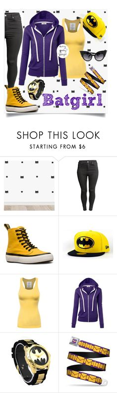 """Batgirl"" by curvygeekyfangirl ❤ liked on Polyvore featuring H&M and Dr. Martens"