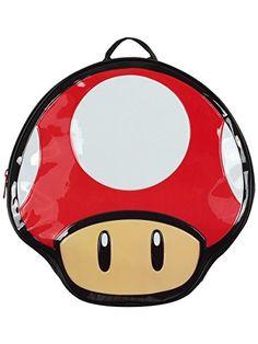 75028ab90f Nintendo Super Mario Bros Red Mushroom Shaped Backpack Bag