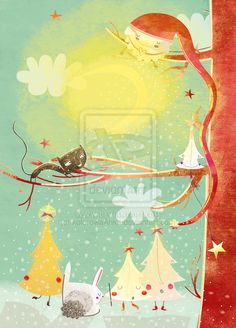 Singing Christmas Trees by Anna Gensler