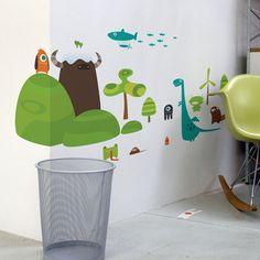 Babybot Land Wall Decals by Blik - found on #Fab #parenting #kidstuff