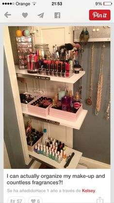 Sliding Panel 17 Makeup Storage Ideas Youll Surely Love Creative And Cheap Makeup Organizer By Makeup Tutorials At