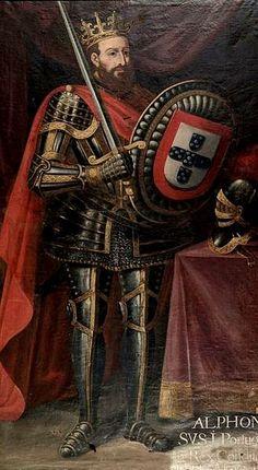 """D. Afonso I ou D. AFONSO HENRIQUES - 1º REI DE PORTUGAL """" O Conquistador """" - (1111-1185). Casou com D. Mafalda de Sabóia."""