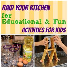 Let them play with their food! How to use food to do science projects, make art and build things with your kids, while learning new things.