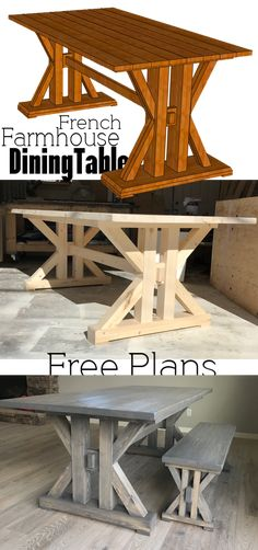 In need of the perfect farmhouse table? Why not DIY this French Farmhouse Dining Table Free Plans for the home kitchen In need of the perfect farmhouse table? Why not DIY this French Farmhouse Dining Table Free Plans for the home kitchen Farmhouse Table Plans, Farmhouse Kitchen Tables, Diy Dining Table, Farmhouse Furniture, Rustic Furniture, Dining Rooms, Diy Kitchen Tables, Furniture Ideas, Kitchen Wood