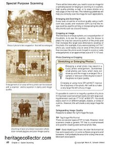 Heritage Collector Storybook: Tips on Scanning and Writing a Family History