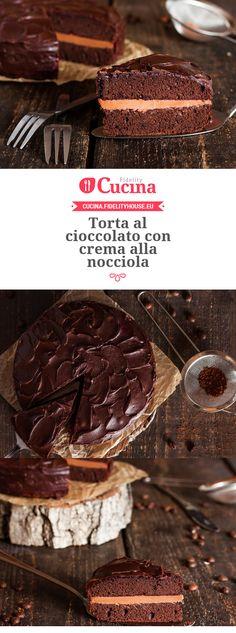 #Torta al #cioccolato con crema alla #nocciola