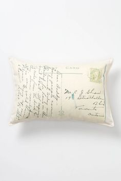 Correspondence Pillow - Anthropologie.com