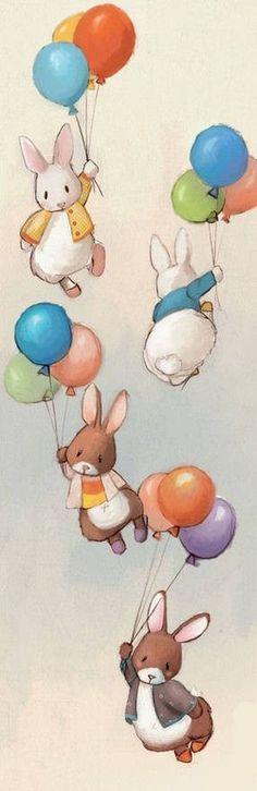 兔子气球…_来自紫色的蘑菇的图片分享-堆糖网