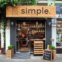 Designing a Modern Fast Food Restaurant Design Milk food design<br> Design Shop, Café Design, Coffee Shop Design, Shop Front Design, Design Ideas, Facade Design, Food Design, Art Designs, Small Restaurant Design