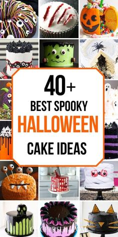 40 Halloween cakes for kids Halloween Desserts, Spooky Halloween Cakes, Halloween Wedding Cakes, Halloween Treats For Kids, Halloween Chocolate, Halloween Cupcakes, Easy Halloween, Haloween Cakes, Halloween Party