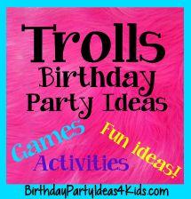 Trolls Birthday Party Ideas