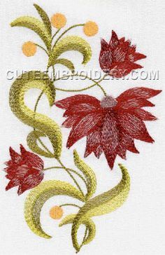 Marvelous Crewel Embroidery Long Short Soft Shading In Colors Ideas. Enchanting Crewel Embroidery Long Short Soft Shading In Colors Ideas. Crewel Embroidery Kits, Cute Embroidery, Free Machine Embroidery Designs, Embroidery Supplies, Shirt Embroidery, Embroidery Thread, Satin Stitch, Embroidery Techniques, Needlework