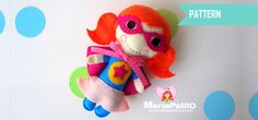 New to Mariapalito on Etsy: SUPERHERO Sewing pattern - Felt Superhero Toy PDF ePATTERN Kids craft Project  Instant Download  A1172 (7.00 USD)