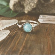 Aquamarine Ring bohemian jewelry boho rings wire by littlestgem