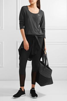 Nike - Relay Dri-fit Mesh Top - Black - medium