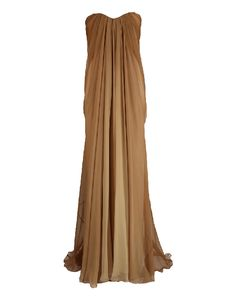 Strapless Ombre-Chiffon Gown