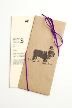 Duke & Winston Gift Card #design #branding (Business Card Restaurant Gift Certificates)