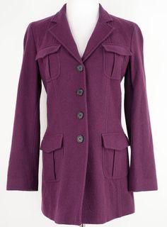 DKNY Purple Wool Jacket Size 6