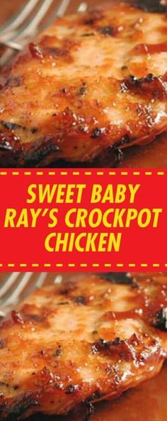 Sweet Baby Ray's Crockpot Chicken Crockpot Dishes, Crock Pot Slow Cooker, Crock Pot Cooking, Slow Cooker Recipes, Crockpot Recipes, Chicken Recipes, Chicken Meals, Meatball Recipes, Baked Chicken