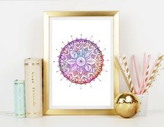 Cosmic Mandala Art Print  Home Decor  Wall Art  Art by CRCases