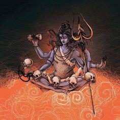 Shiva Shakti, Shiva Art, Hindu Art, Durga Kali, Lord Shiva, Lord Krishna, Baby Krishna, Shiva Tattoo, Lord Mahadev