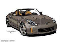 Art Automobile: Nissan 350 Z Roadster