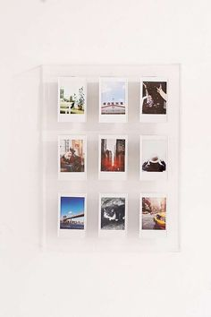 Shop Instax Acrylic Gallery Multi Picture Frame at Urban Outfitters today. We carry all the latest styles, colors and brands for you to choose from right here. Polaroid Display, Polaroid Picture Frame, Multi Picture Frames, Polaroid Frame, Polaroids, Diy Polaroid, Polaroid Collage, Polaroid Camera, Polaroid Pictures