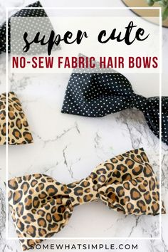 This no-sew bow is going to look darling in your little girl's hair! No Sew Bow, Kids Girls, Little Girls, Fabric Hair Bows, Sewing Accessories, Fashion Outfits, Fashion Tips, Cool Hairstyles, Crafts For Kids