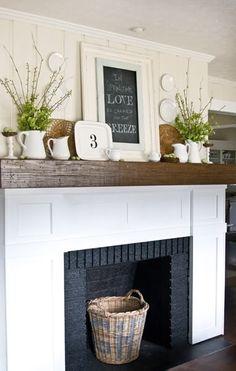 spring mantle decor
