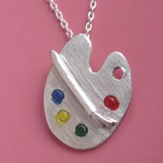 Artist's Palette Necklace by sudlow on Etsy